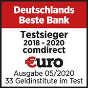 Comdirect Auszeichnung Testsieger