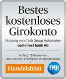 Comdirect bestes Girokonto Auszeichnung