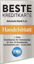 Testsieger Mastercard Gold der Advanzia Bank