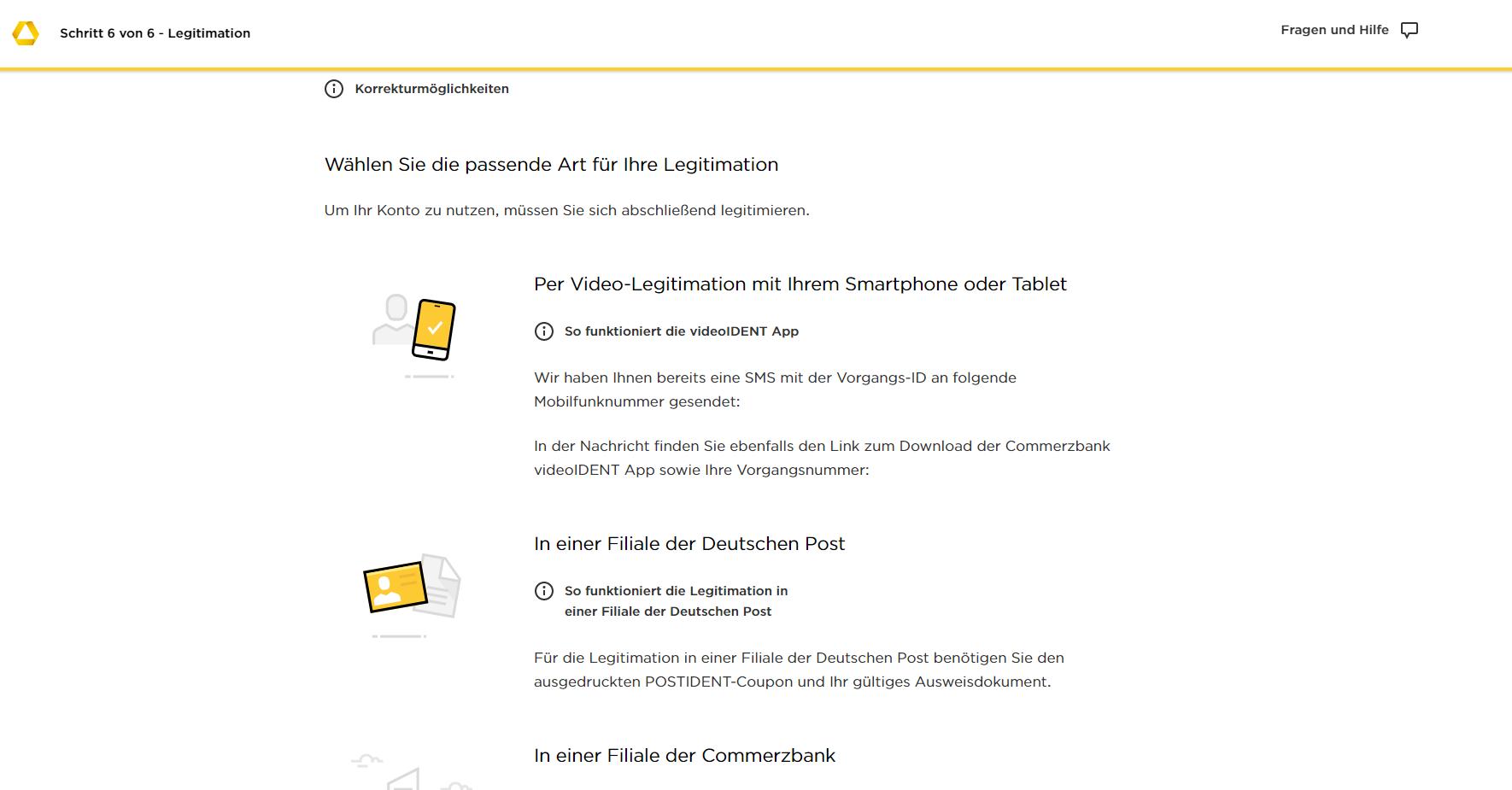 Commerzbank zweites Konto einrichten Schritt 4