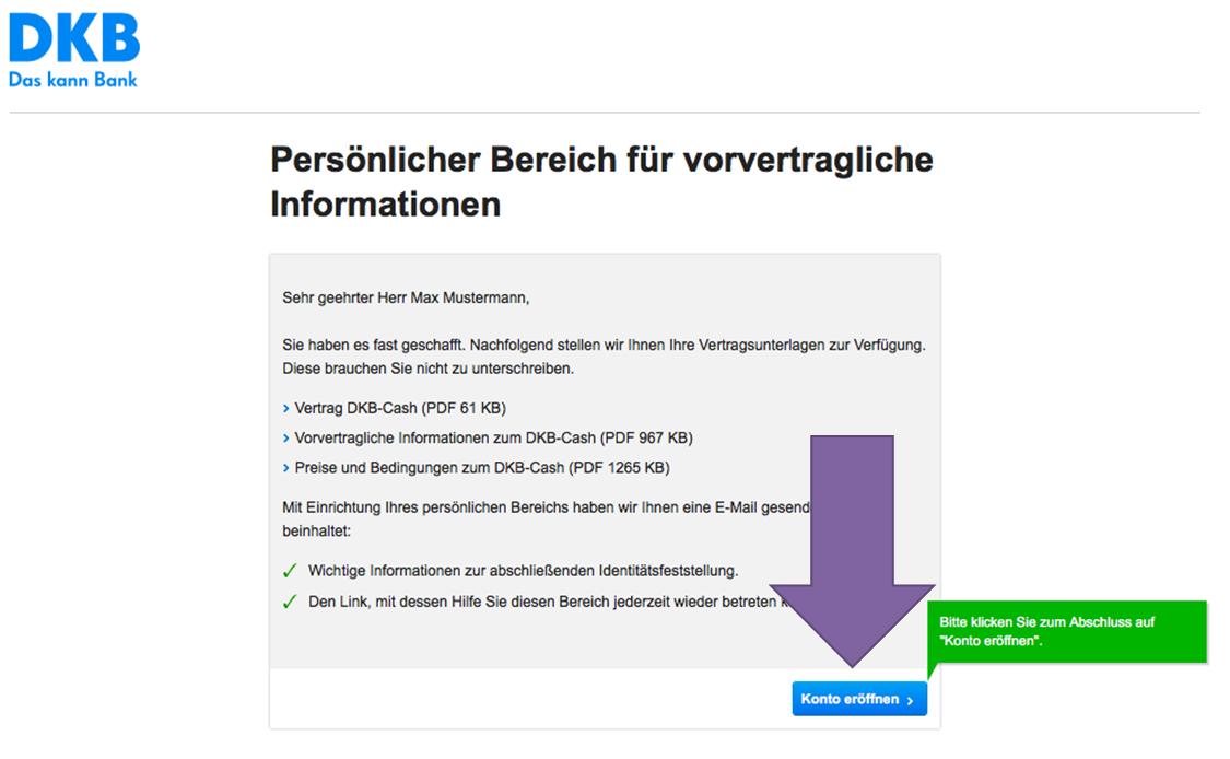 DKB Unterkonto Antrag abschicken