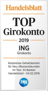 ING-DiBa Auszeichnung Girokonto